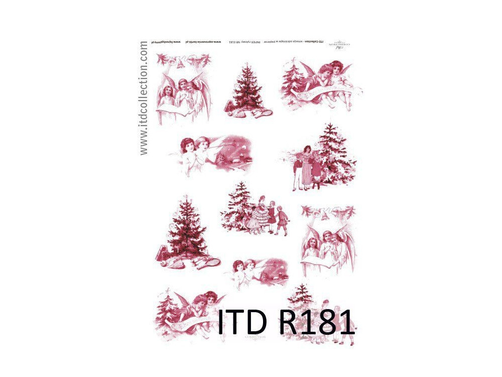 Decoupage paper A4 - ITD Collection - rice, R181