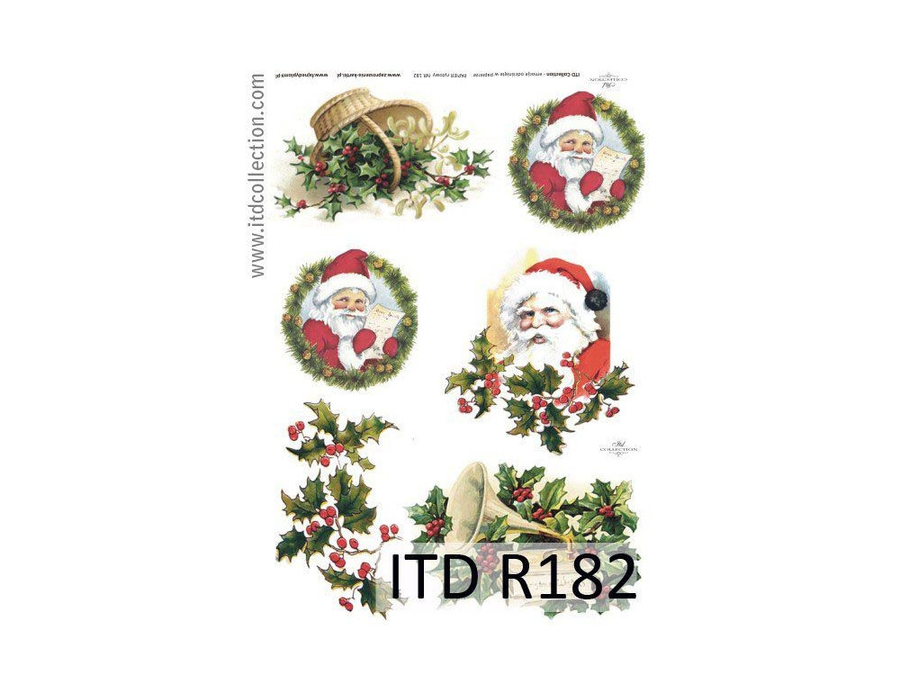 Papier do decoupage A4 - ITD Collection - ryżowy, R182