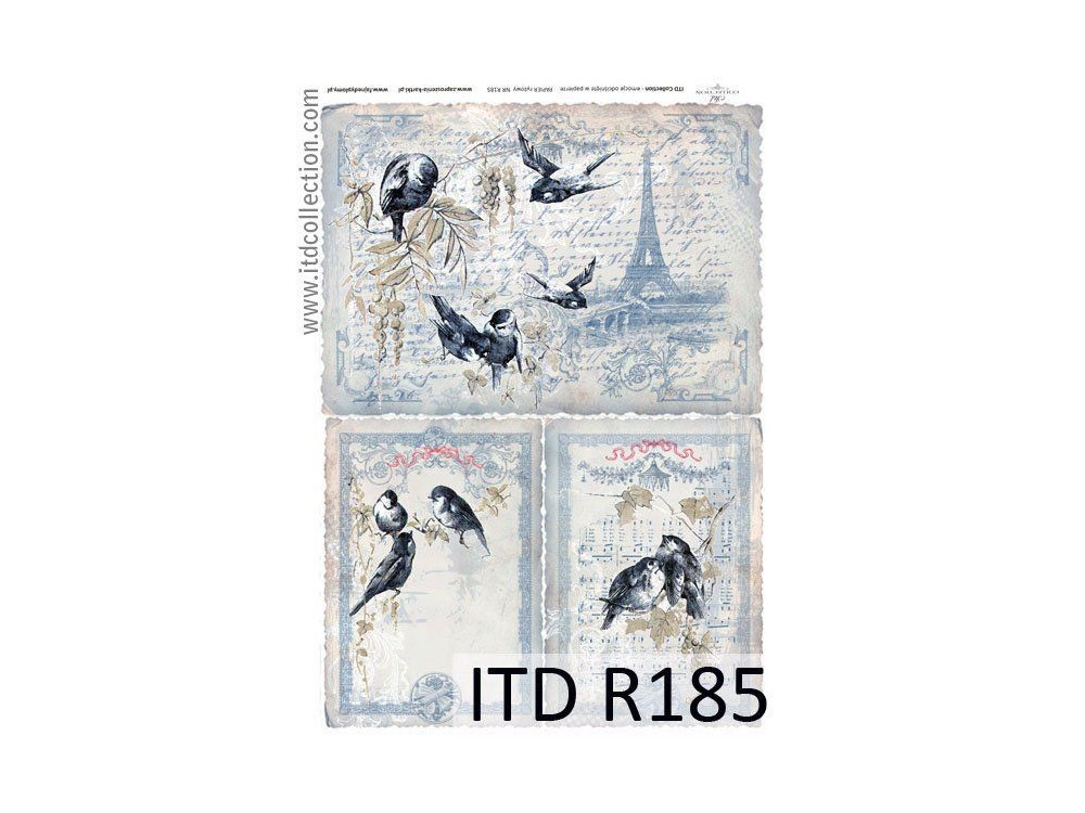 Papier do decoupage A4 - ITD Collection - ryżowy, R185