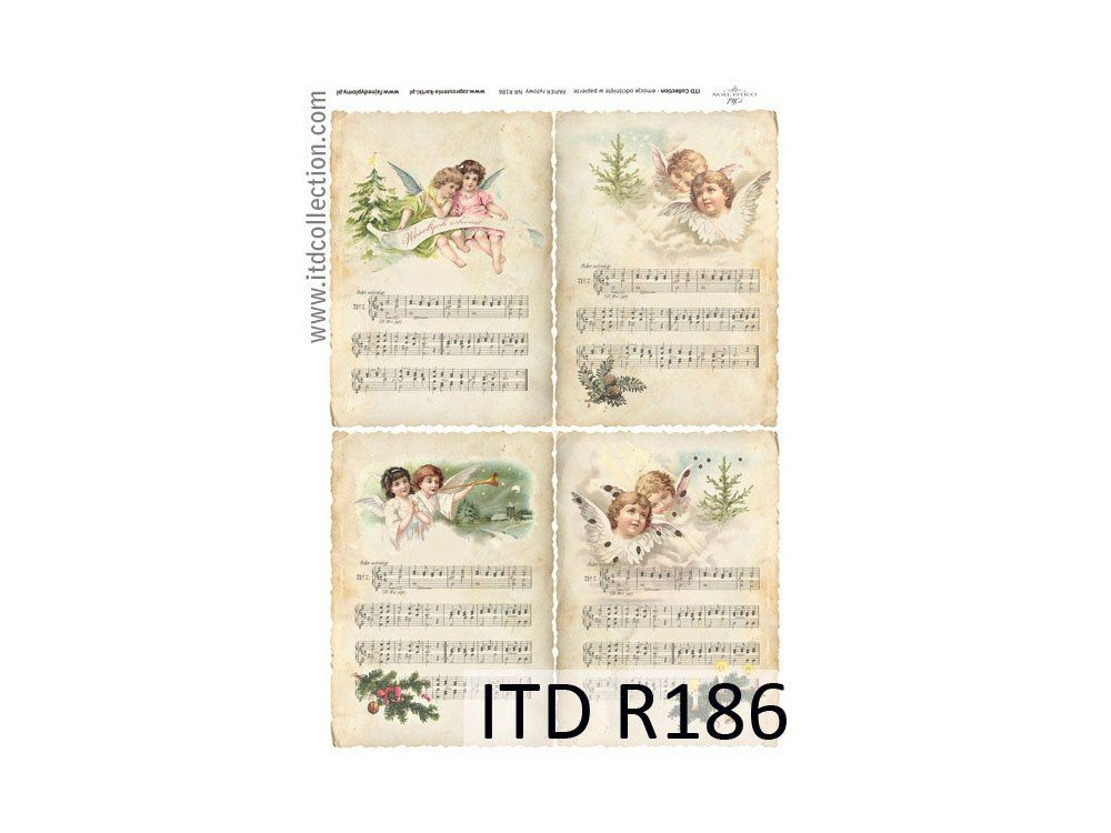 Papier do decoupage A4 - ITD Collection - ryżowy, R186