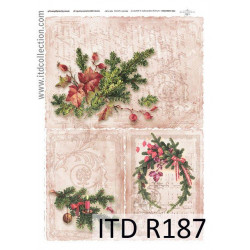 Papier do decoupage A4 - ITD Collection - ryżowy, R187