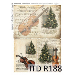 Papier do decoupage A4 - ITD Collection - ryżowy, R188