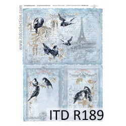 Papier do decoupage A4 - ITD Collection - ryżowy, R189