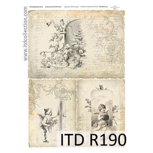 Papier ryżowy decoupage ITD R190