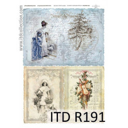 Decoupage paper A4 - ITD Collection - rice, R191