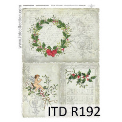 Decoupage paper A4 - ITD Collection - rice, R192