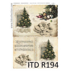 Papier do decoupage A4 - ITD Collection - ryżowy, R194