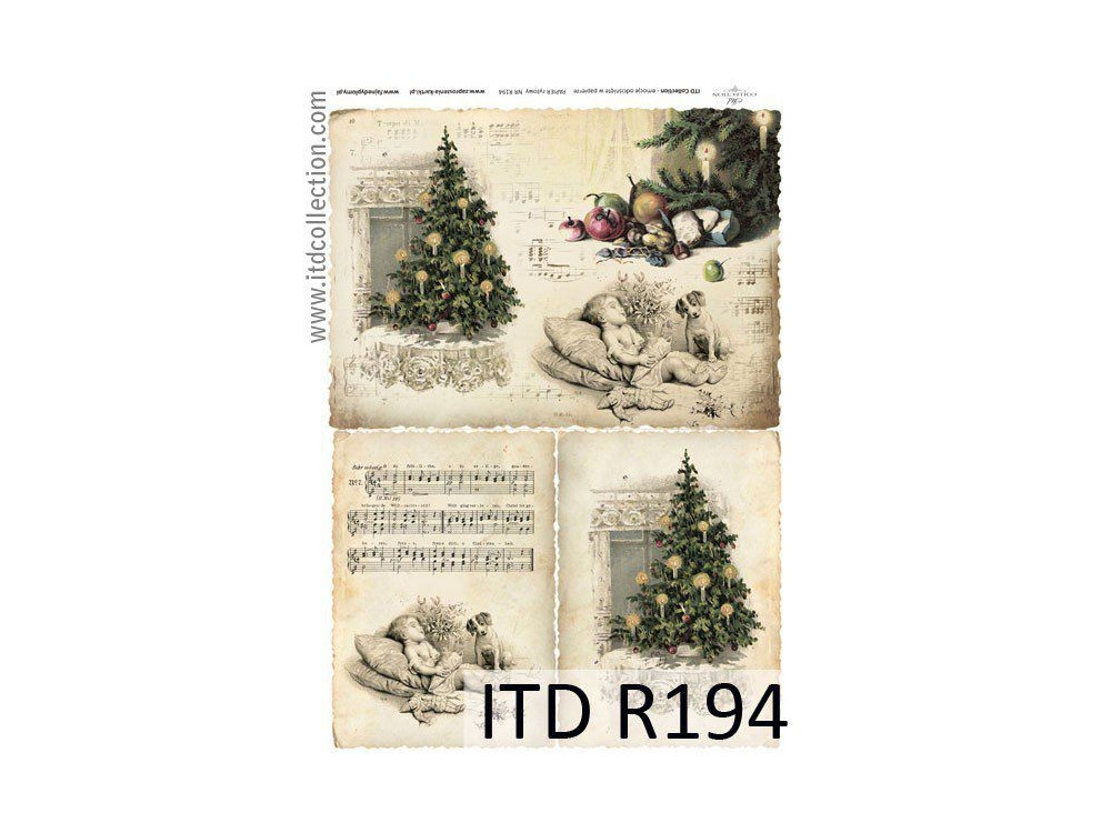 Decoupage paper A4 - ITD Collection - rice, R194