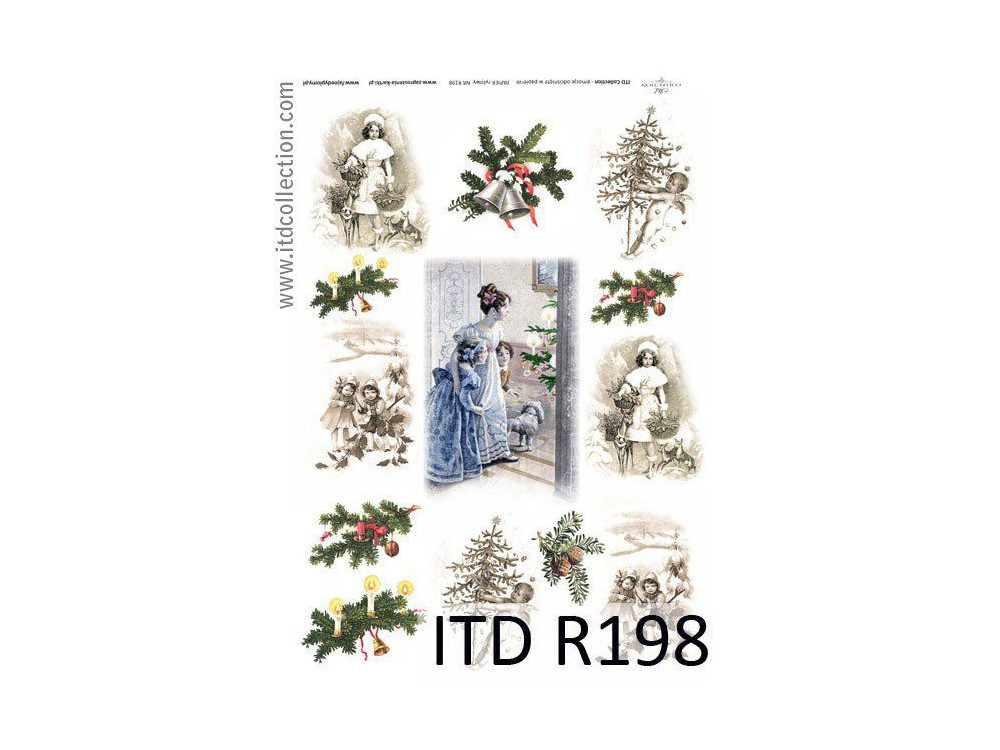 Decoupage paper A4 - ITD Collection - rice, R198