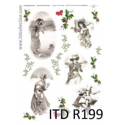 Papier do decoupage A4 - ITD Collection - ryżowy, R199