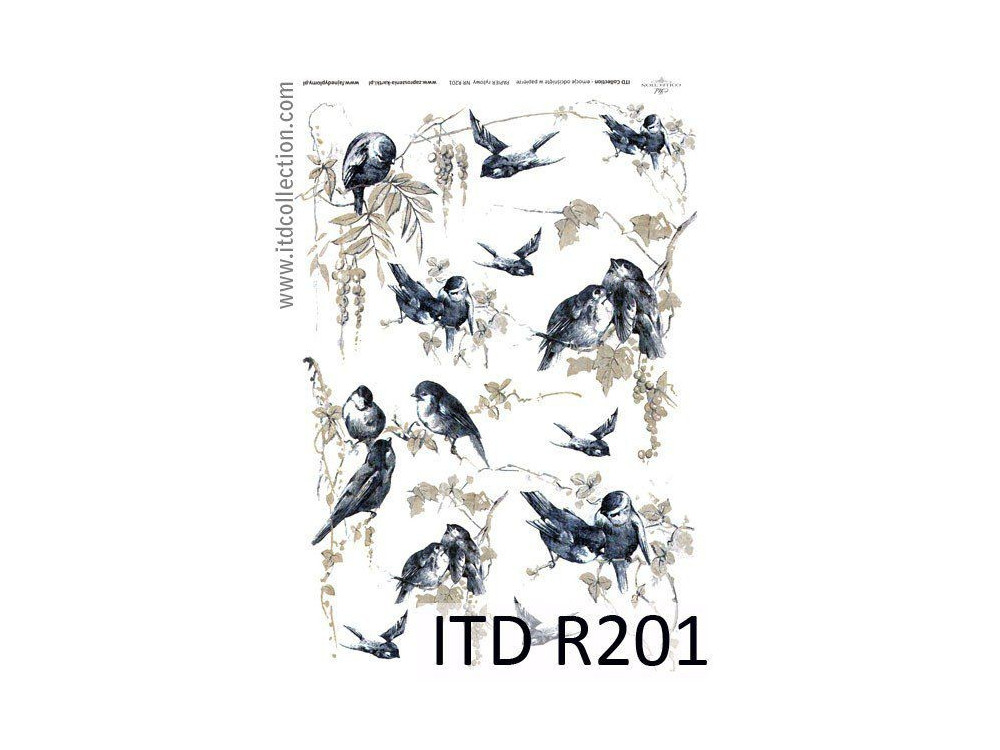 Decoupage paper A4 - ITD Collection - rice, R201