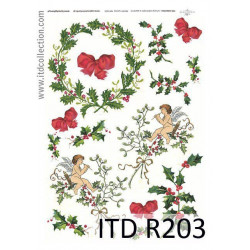 Papier do decoupage A4 - ITD Collection - ryżowy, R203