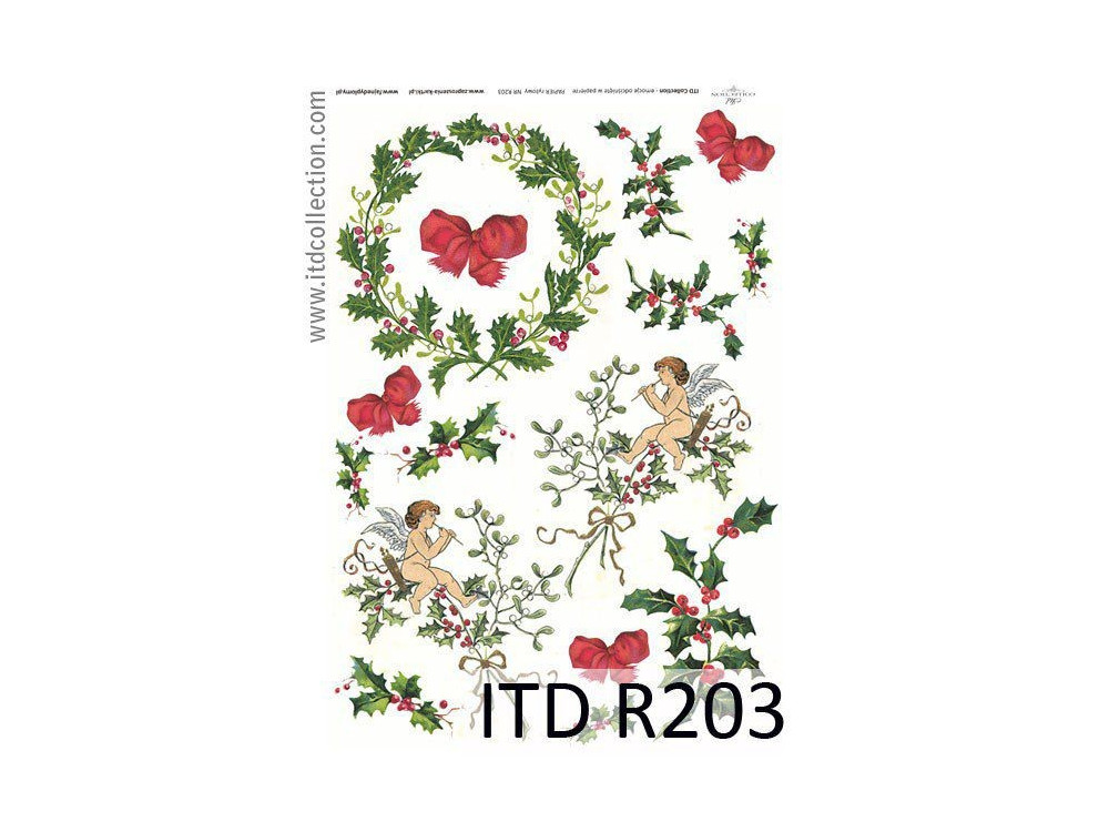 Decoupage paper A4 - ITD Collection - rice, R203