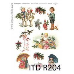 Papier do decoupage A4 - ITD Collection - ryżowy, R204