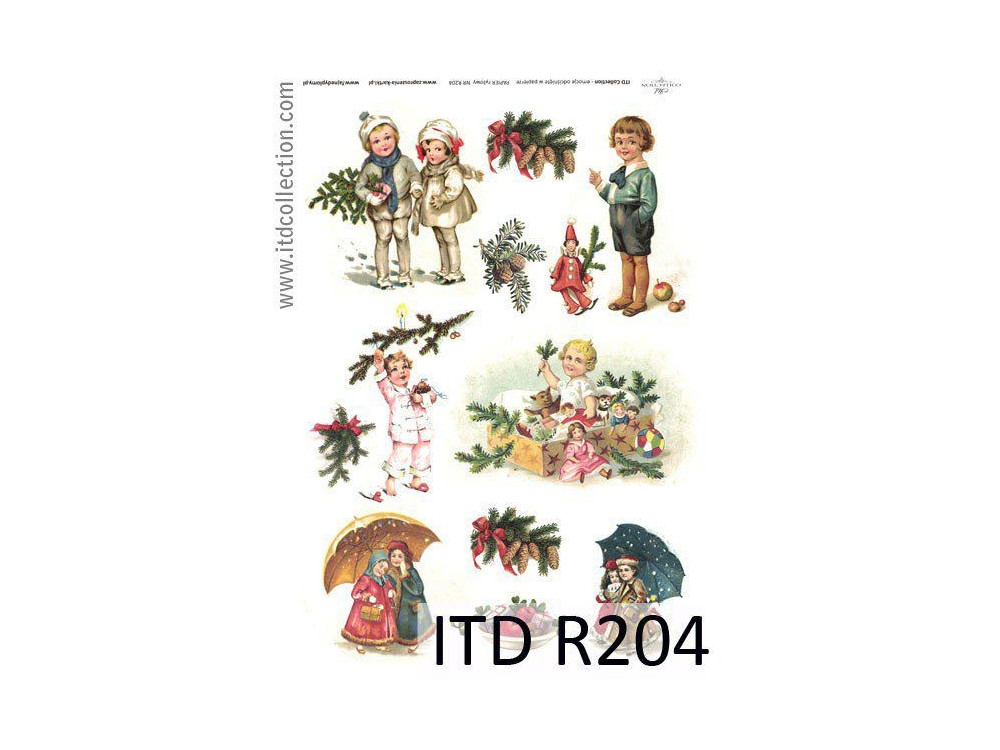 Decoupage paper A4 - ITD Collection - rice, R204