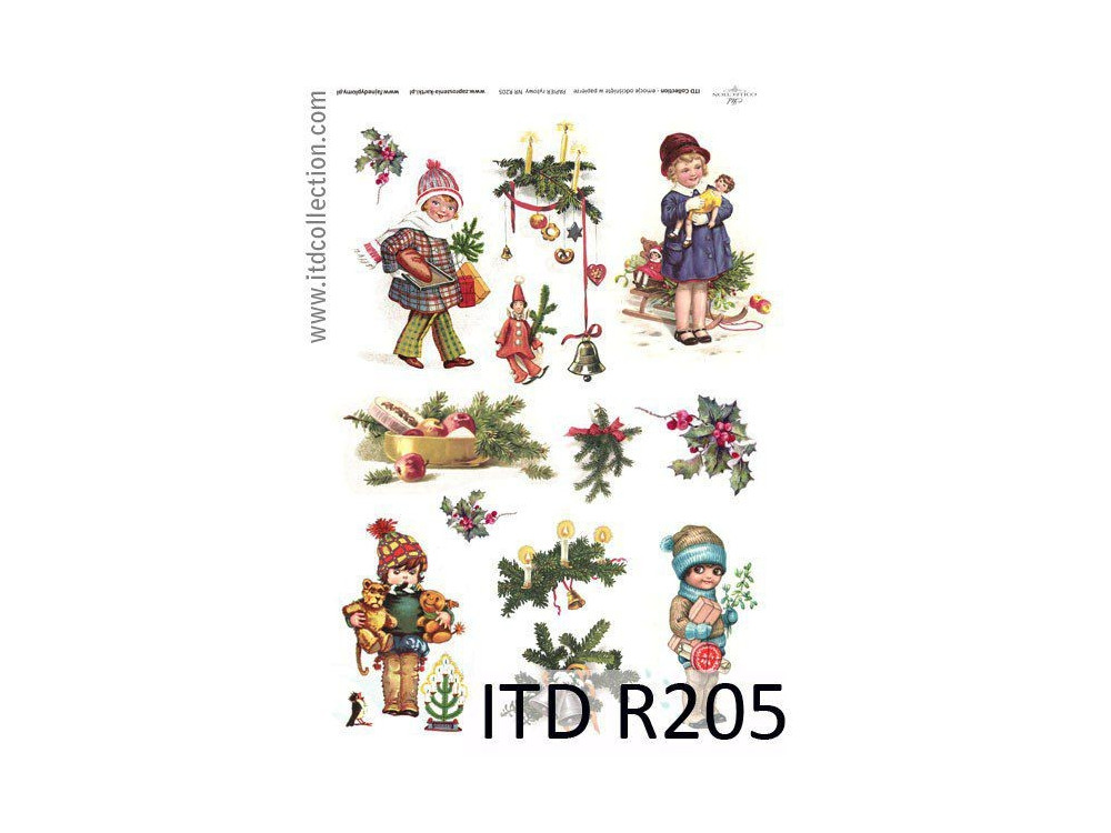 Papier do decoupage A4 - ITD Collection - ryżowy, R205