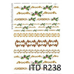 Papier do decoupage A4 - ITD Collection - ryżowy, R238