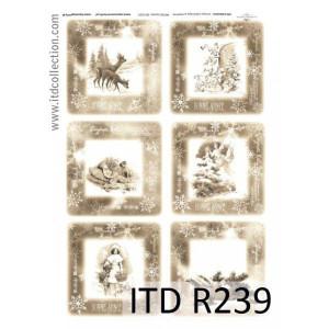 Papier ryżowy decoupage A4 R239