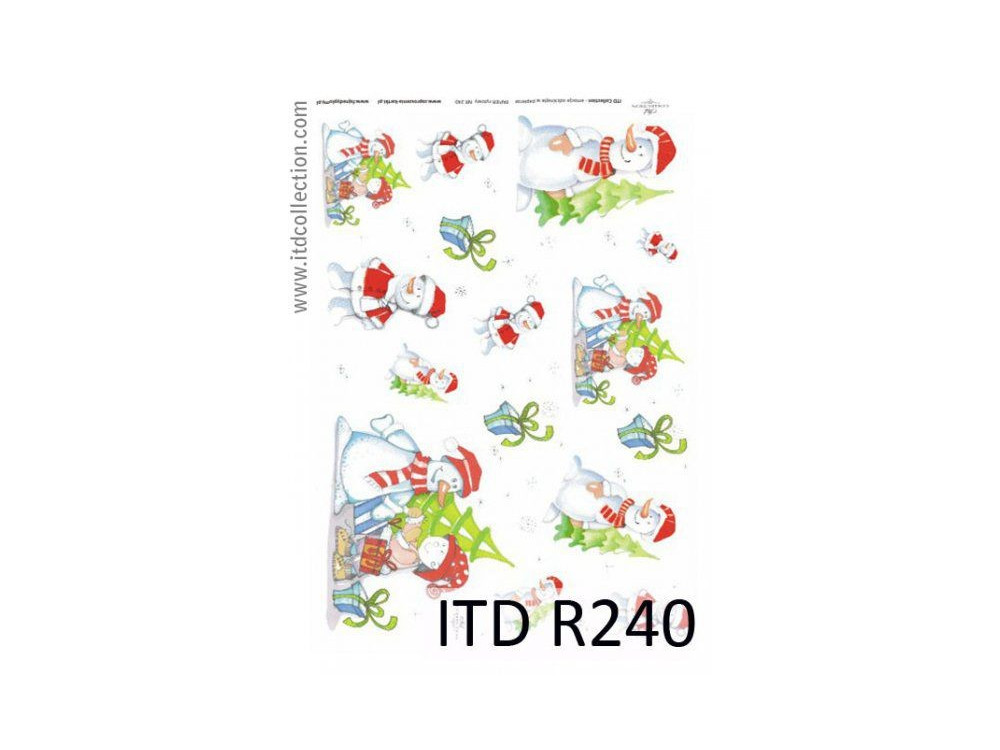 Papier do decoupage A4 - ITD Collection - ryżowy, R240