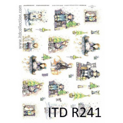 Decoupage paper A4 - ITD Collection - rice, R241