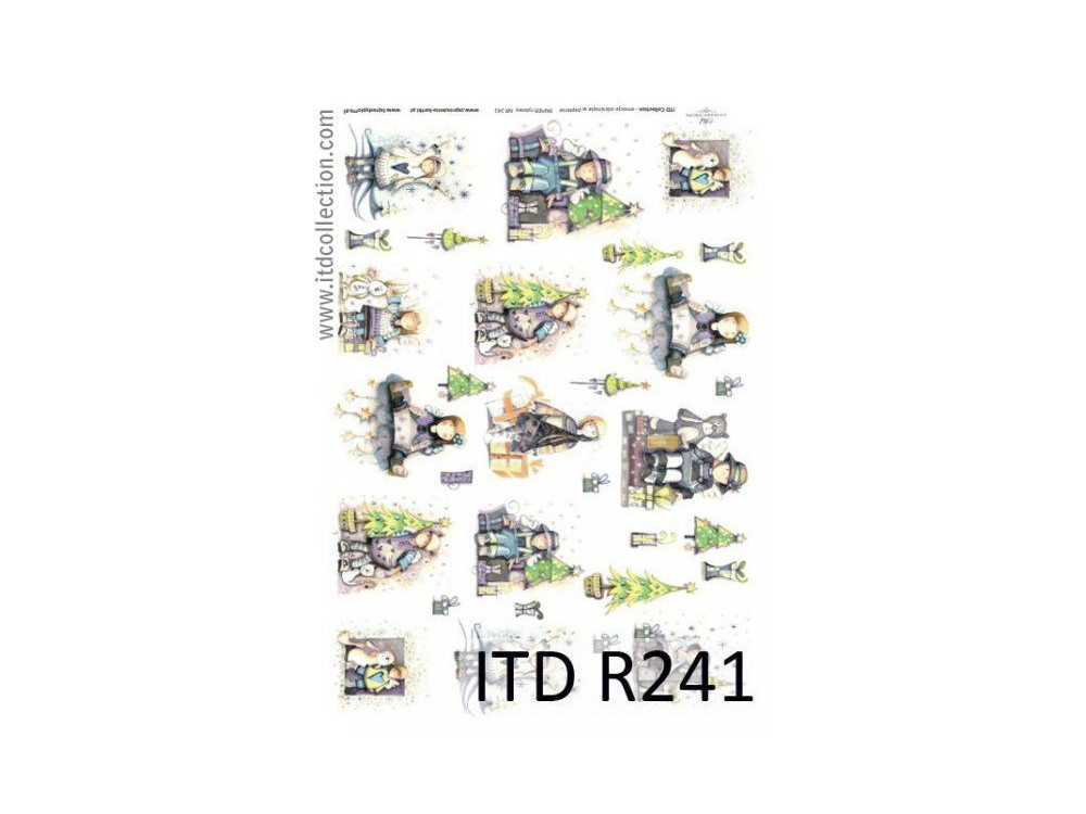 Papier do decoupage A4 - ITD Collection - ryżowy, R241