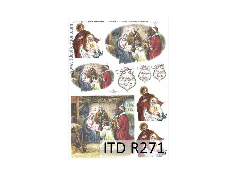 Papier do decoupage A4 - ITD Collection - ryżowy, R271