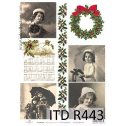 Decoupage paper A4 - ITD Collection - rice, R443