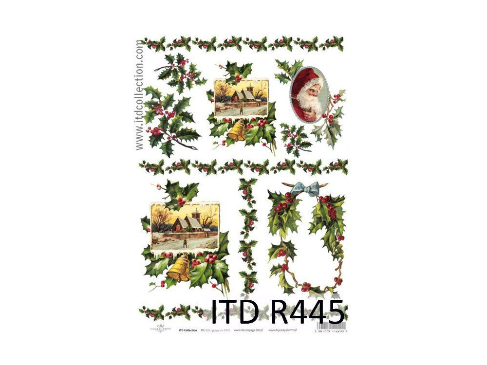 Decoupage paper A4 - ITD Collection - rice, R445