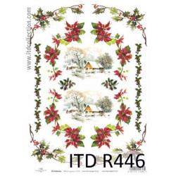 Papier do decoupage A4 - ITD - ryżowy, R446