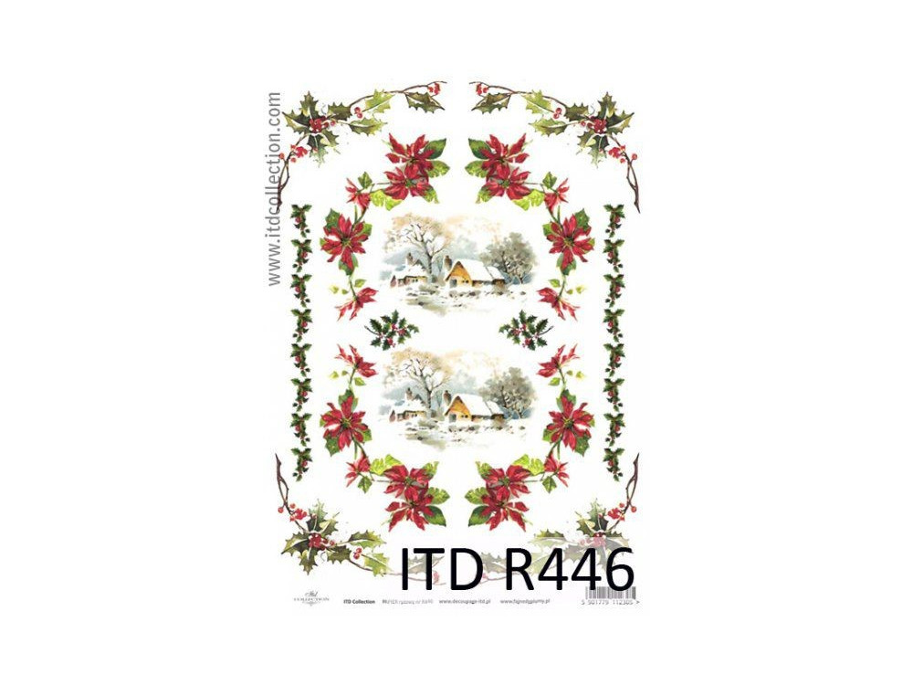 Decoupage paper A4 - ITD Collection - rice, R446