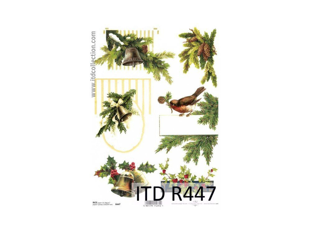 Decoupage paper A4 - ITD Collection - rice, R447