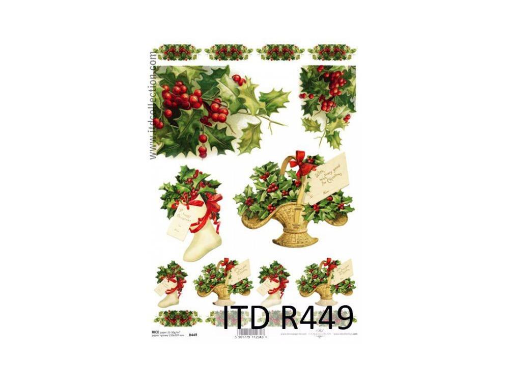 Papier do decoupage A4 - ITD - ryżowy, R449