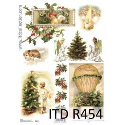 Papier do decoupage A4 - ITD - ryżowy, R454