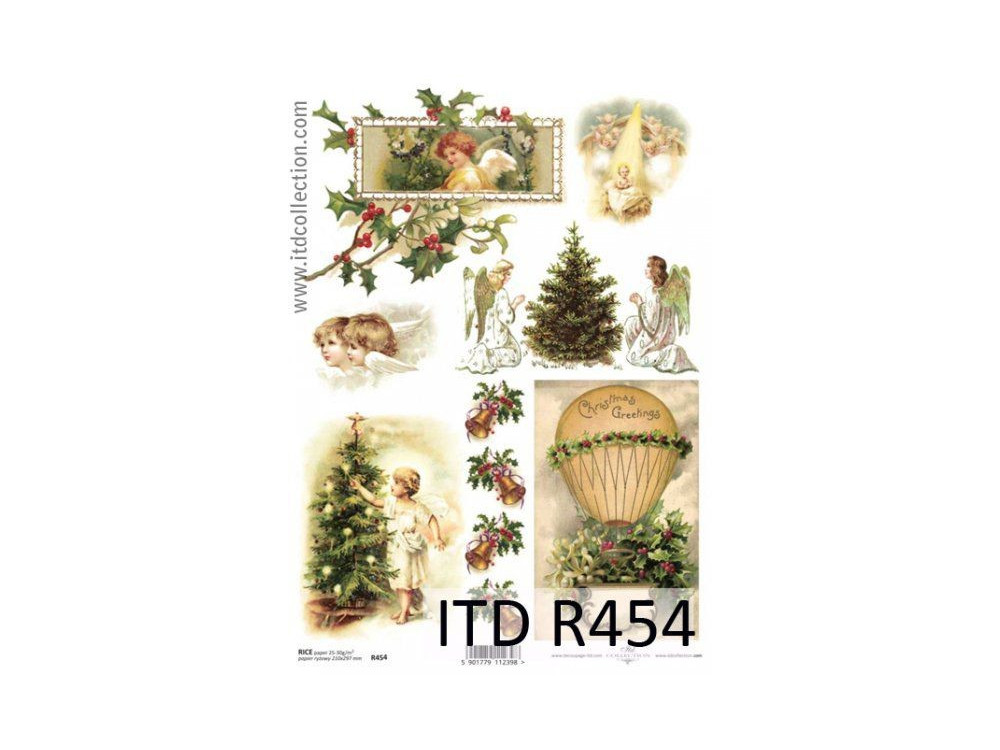 Decoupage paper A4 - ITD Collection - rice, R454