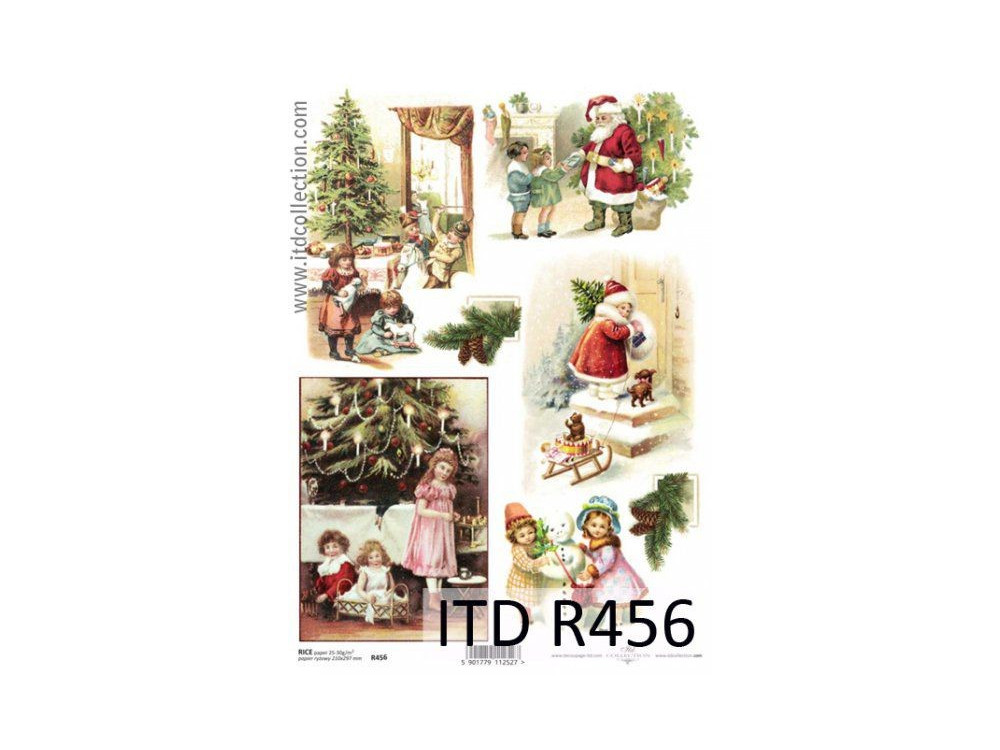 Papier do decoupage A4 - ITD - ryżowy, R456