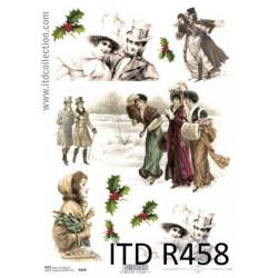 Papier do decoupage A4 - ITD - ryżowy, R458