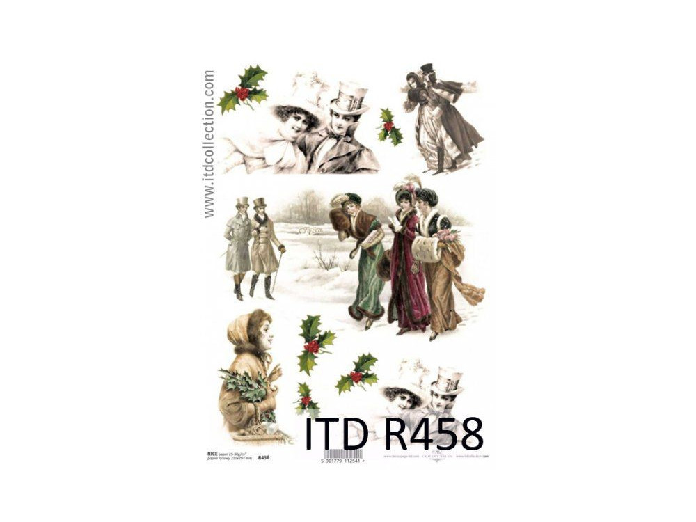 Decoupage paper A4 - ITD Collection - rice, R458