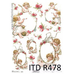 Decoupage paper A4 - ITD Collection - rice, R478