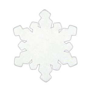 Śnieżynki z pianki brokatowe 24 szt.