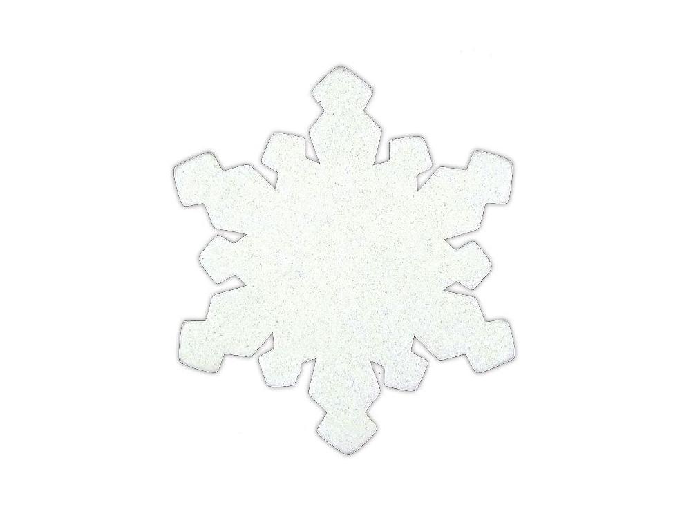 Śnieżynki brokatowe z pianki - DpCraft - 24 szt.