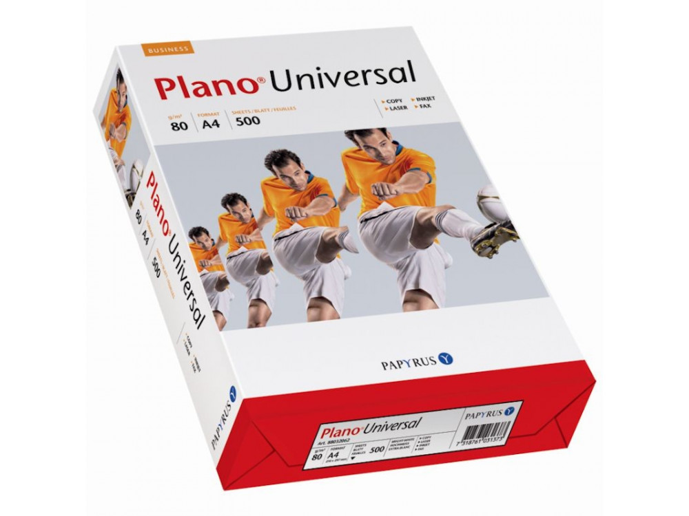 Office paper xero Plano, A4 - white, 80 g, 500 sheets