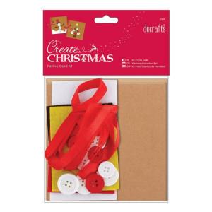 Zestaw do tworzenia świątecznych kartek 2 szt.