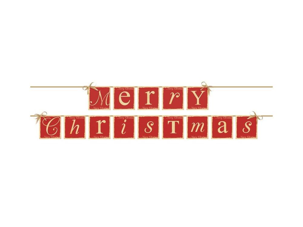 Girlanda, baner świąteczny Merry Christmas - 15,4 x 220 cm