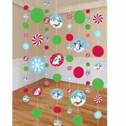 Dekoracja świąteczna, wisząca - Joyful Snowman, 180 cm