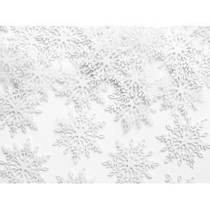 Konfetti Śnieżynki, perłowy, 3,1 x 3,6 cm