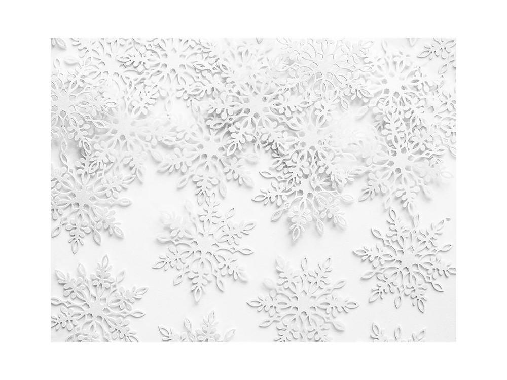 Confetti Snowflakes - white, pearl, 3,1 x 3,6 cm, 20 pcs.