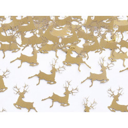 Konfetti świąteczne Renifery - złote, 20 szt.