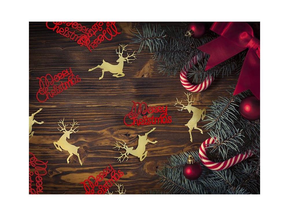 Decorative Confetti Reindeer - gold, 20 pcs.