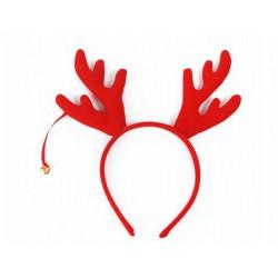 Opaska z uszami Renifer - czerwona