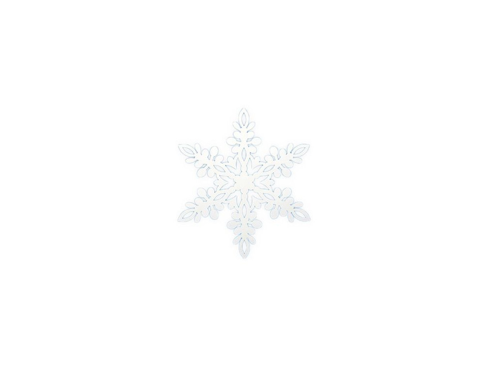 Zawieszki świąteczne, papierowe Śnieżynka - białe, 10 szt.